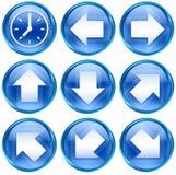 11 błękit ikony set Zdjęcie Royalty Free
