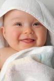 11 behandla som ett barn badet Arkivfoto
