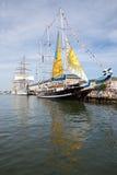 11 boston juli seglar högväxt ships Arkivfoton