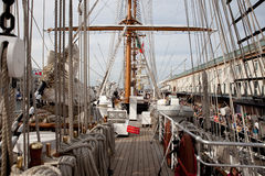 11 boston juli seglar högväxt ships Arkivbilder