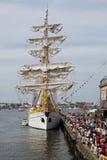 11 bostonu Lipiec żagiel wysyła wysokiego Zdjęcia Royalty Free