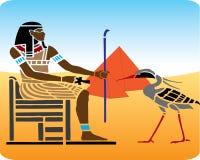 11 egyptiska hieroglyphics royaltyfri illustrationer