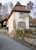 11 gammala schweizare för hus Arkivfoto