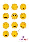 11 grappige gezichten voor praatje Stock Foto