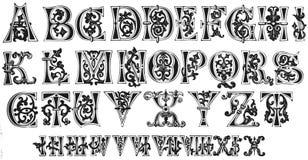 11. Jahrhundert-Initialen und römische Ziffern stock abbildung