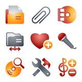 11 koloru ikony strona internetowa Zdjęcia Royalty Free