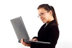 11 laptopa kobieta interesu Zdjęcie Stock