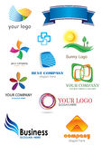 11 Logos. That can be used for company branding - illustration Stock Image