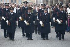 11. November 2011 - Hornisten Stockfotografie