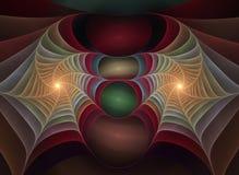11 optiska plast- för konstfractal Arkivbild