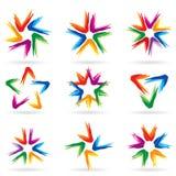 11 różne ikony ustawiająca gwiazda ilustracja wektor