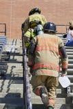 11 septembre 2011 - montée commémorative d'escalier de sapeur-pompier Image stock