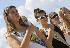 11 settembre 2011 - onore dei girl-scout Fotografie Stock