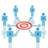 11. Teamwork Target in blue. Stock Images