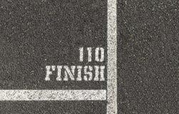 110 γραμμή τερματισμού μετρητής Στοκ Εικόνες