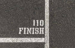 110 Meter-Ziellinie Stockfoto