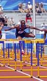 110 metre hurdles men usa cross Stock Photography