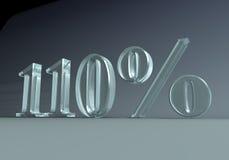 110 procent Fotografering för Bildbyråer