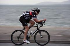 1103年巴里骑自行车者杰克逊摇摄技术 免版税库存照片
