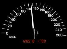 110kph ταχύμετρο αυτοκινήτων Στοκ Εικόνες