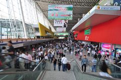 The 110th Canton Fair. Officially known as the China Import and Export Fair, opened at  the Pazhou Complex, in the city of Guangzhou, China on Oct, 15th, 2011 Stock Photo