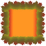 111. Illustration of maple leaves frame background stock illustration