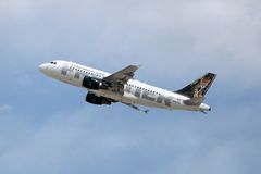 111 a319 σύνορα maya n947fr αερογραμμών airbus Στοκ Εικόνες