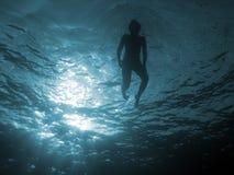 111 blåa djupa Arkivfoton