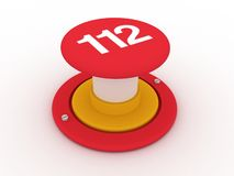 112 button. 3d button to call 112 royalty free illustration