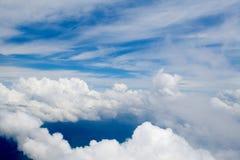 113朵云彩飞行视图 图库摄影