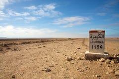1134 km lagouira 免版税库存照片