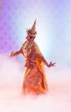 曼谷,泰国- 1月15 : 泰国传统礼服。 演员p 免版税库存照片