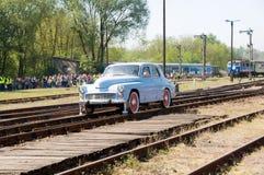 1辆第16辆2009个机车游行蒸汽台车 库存照片