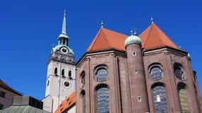 1180 построили церковь munich peter Стоковое Фото