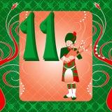 11de Dag van Kerstmis Stock Afbeeldingen