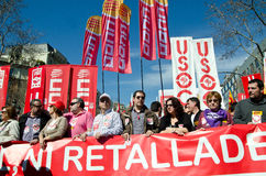 11m巴塞罗那拒付联合会 免版税图库摄影