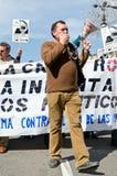 11M - Anschlüße protestieren in Barcelona Stockbild