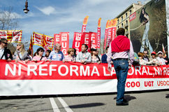 11M - Anschlussprotest in Barcelona Lizenzfreies Stockfoto