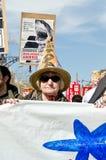 11m barcelona protestunioner Arkivbild