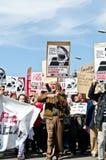 11M - de vakbonden protesteren in Barcelona Stock Afbeelding