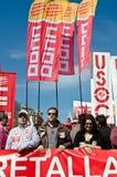 11M - i sindacati protestano a Barcellona Immagini Stock