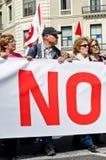 11M - i sindacati protestano a Barcellona Fotografia Stock Libera da Diritti