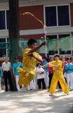 The 11th China Kongfu taiji ball (Rouliqiu) games. In Beijing, China Royalty Free Stock Image