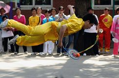 The 11th China Kongfu taiji ball (Rouliqiu) games Stock Image