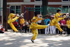 The 11th China Kongfu taiji ball (Rouliqiu) games Stock Images