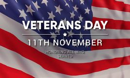 Free 11th November - Veterans Day. Honoring All Who Served. Stock Images - 129761804