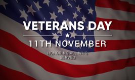 Free 11th November - Veterans Day. Honoring All Who Served. Royalty Free Stock Photos - 129761948