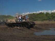 12ème Contact militaire dans DarÅowo Images stock