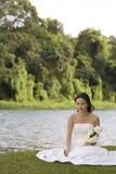12个亚洲人新娘 免版税库存照片