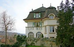 12个房子好瑞士 库存照片